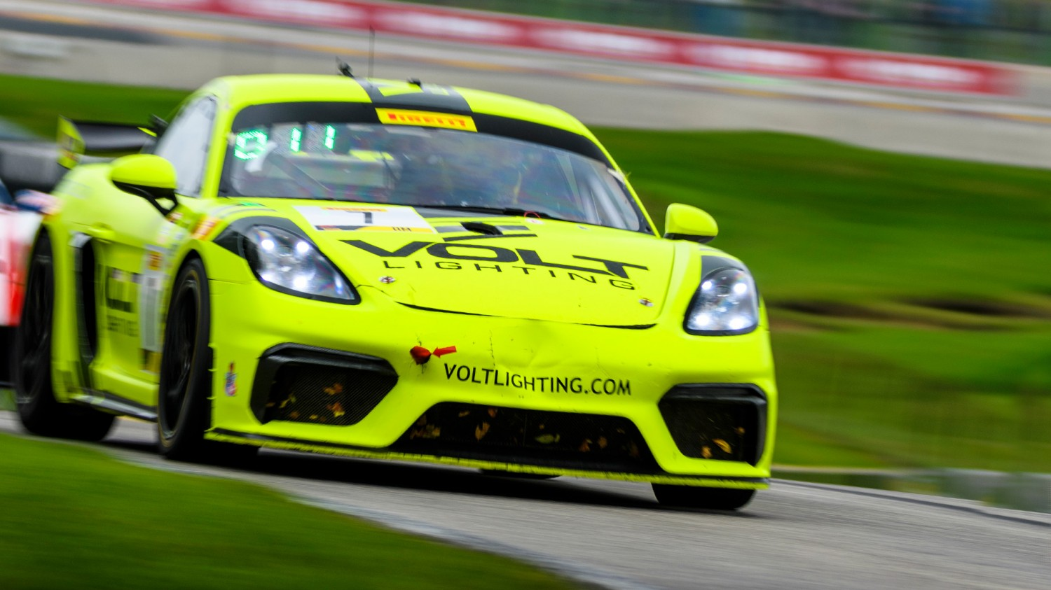 Park Place Motorsports Dominate Wet Pirelli GT4 America SprintX Race 2 from Road America