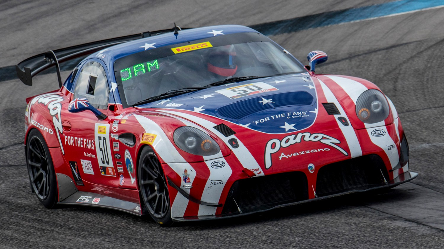 Ian James Strikes First in Thrilling Pirelli GT4 America Race 1 from Las Vegas Motor Speedway