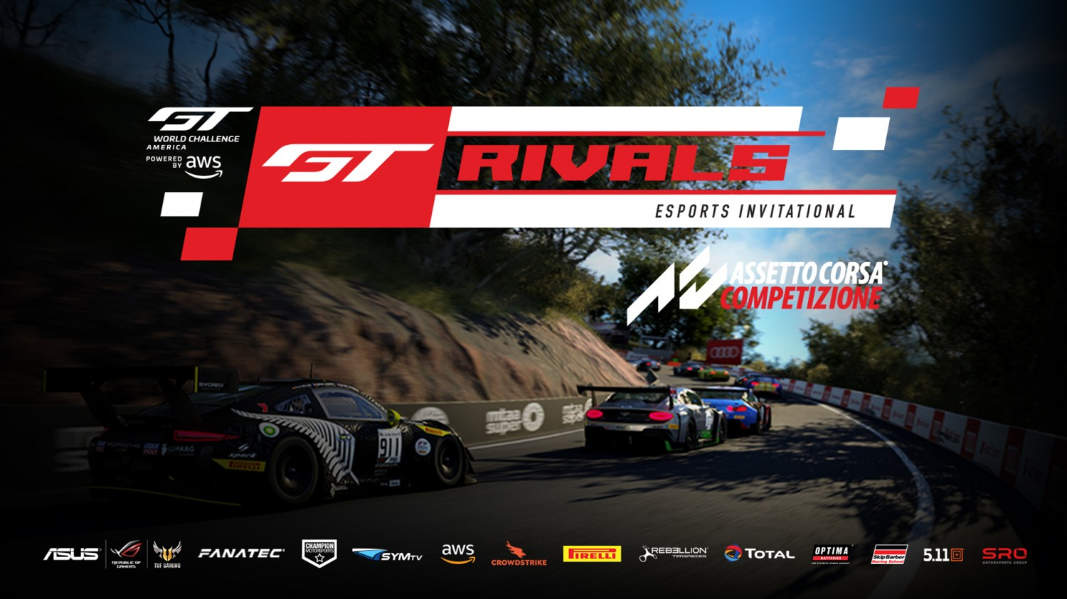 SRO America Racers Set to Battle in New GT Rivals Esports Invitational