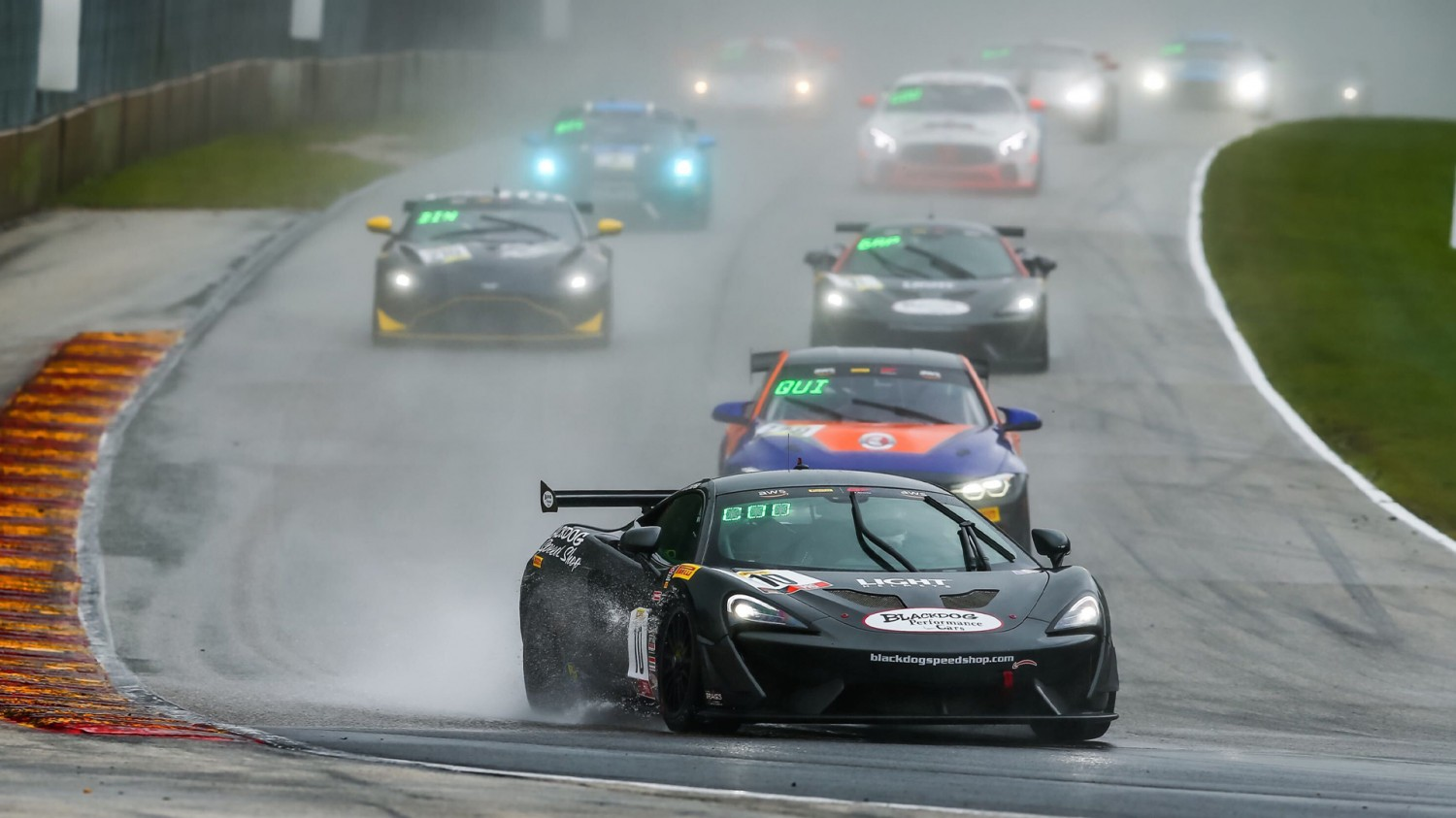 Cooper Tames Elements, Uses Huge Restart Pass to Keep Pirelli GT4 America Sprint Winning Streak Going at Road America