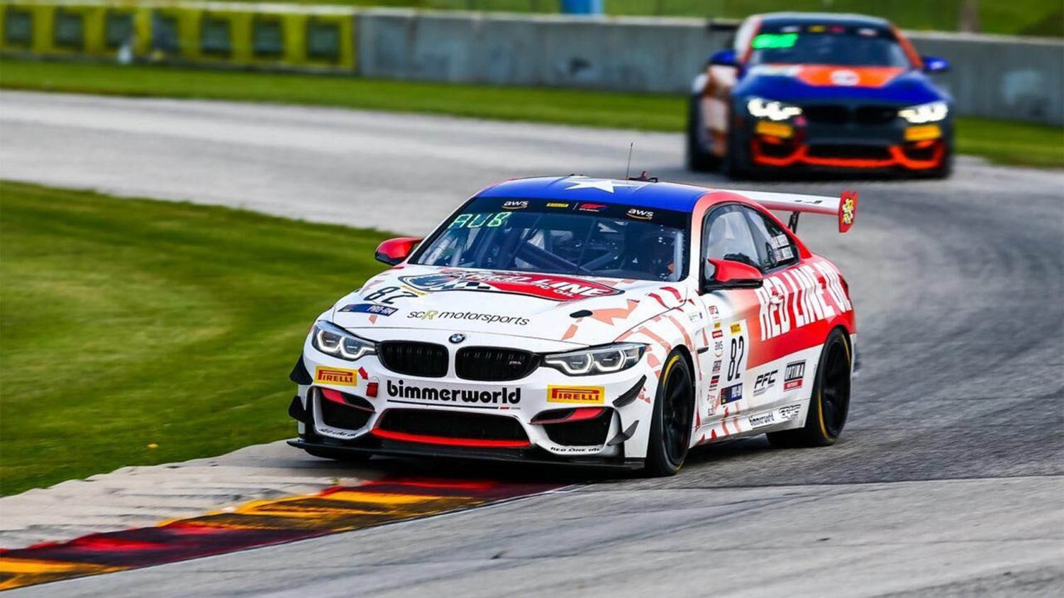 Auberlen/Walker Jr Win Exciting Pirelli GT4 America Race 1 at Road America