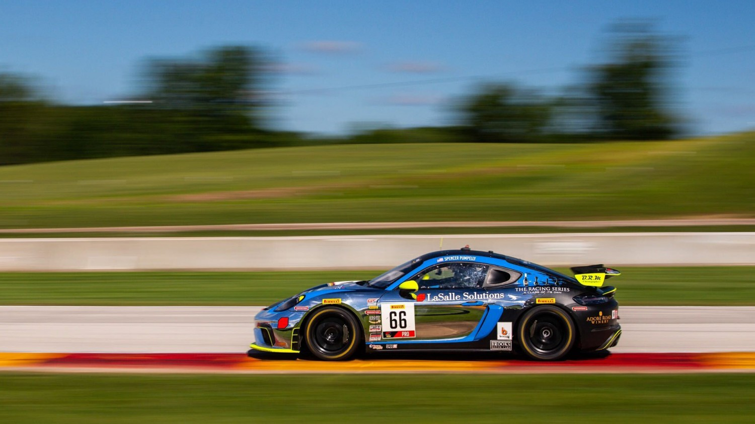 Pumpelly Outduels Cooper To Take Exciting Pirelli GT4 America Sprint Race 2 Victory at Road America