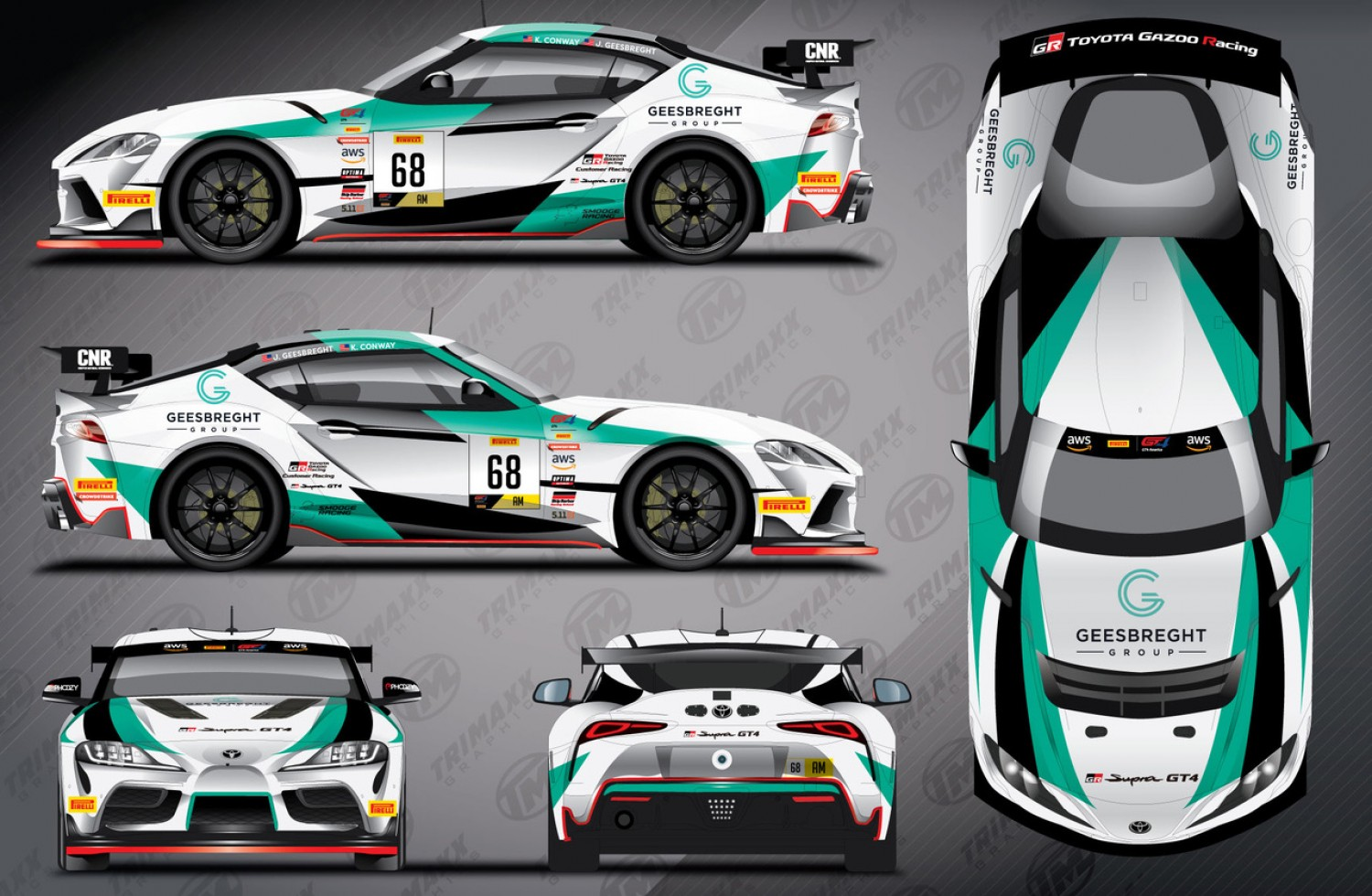 SMOOGE Racing Set To Campaign Full Season with Toyota GR Supra GT4 in Pirelli GT4 America