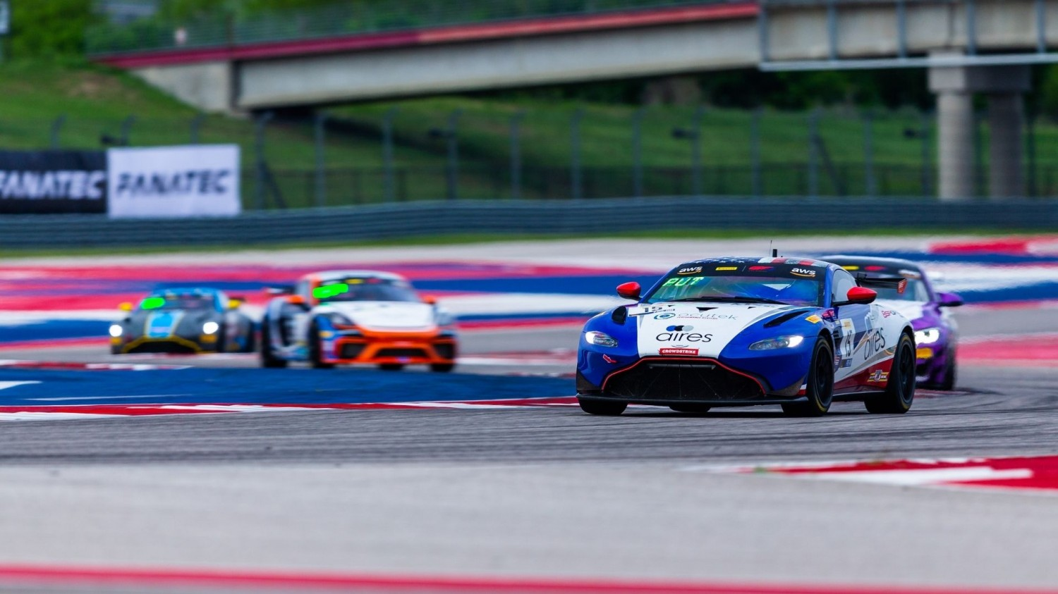 BSport Aston Martin leads final practice session from rainy Texas
