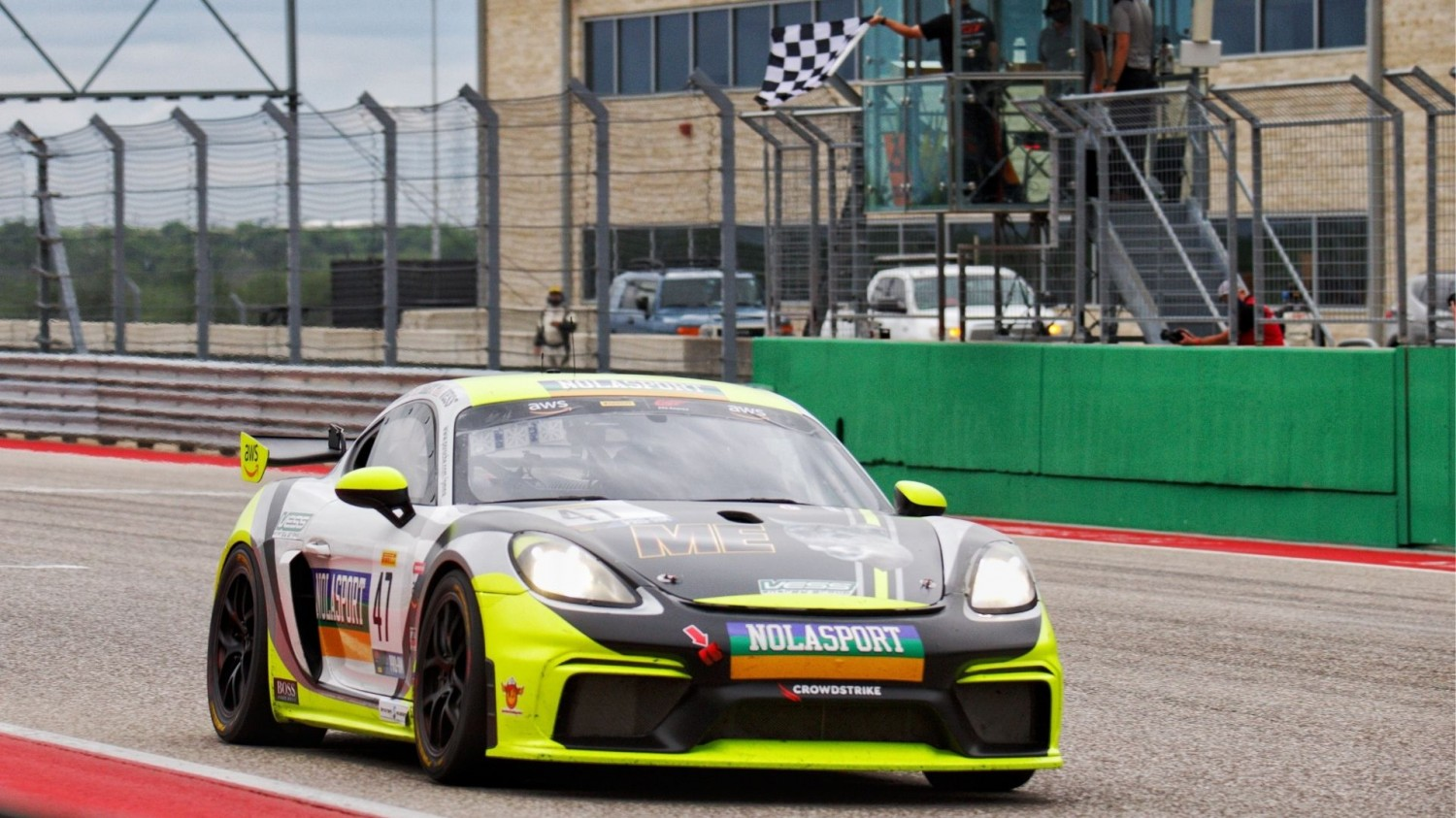 NOLASPORT Porsche Dominates Red Flag-Affected Race 1 at Circuit of the Americas