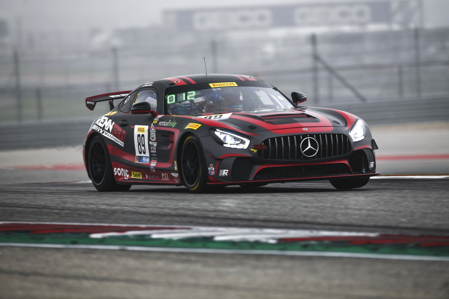 Austin , TX - March 01: Reinhold Renger  or Parker Chase pilots the #89 Mercedes-AMG GT4, competing in the GT4 East class during the Blancpain GT World Challenge Presented by Euroworld Motorsports on March 01, 2019 at the Circuit of The Americas in Austin | © 2018 SRO / Gavin Baker Gavin Baker www.GavinBakerPhotography.com