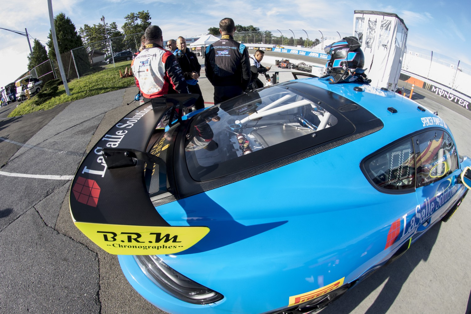 #66 Porsche 718 Cayman CS MR of Spencer Pumpelly, TRG- The Racers Group, Watkins Glen World Challenge America, Watkins Glen NY  | Brian Cleary/SRO