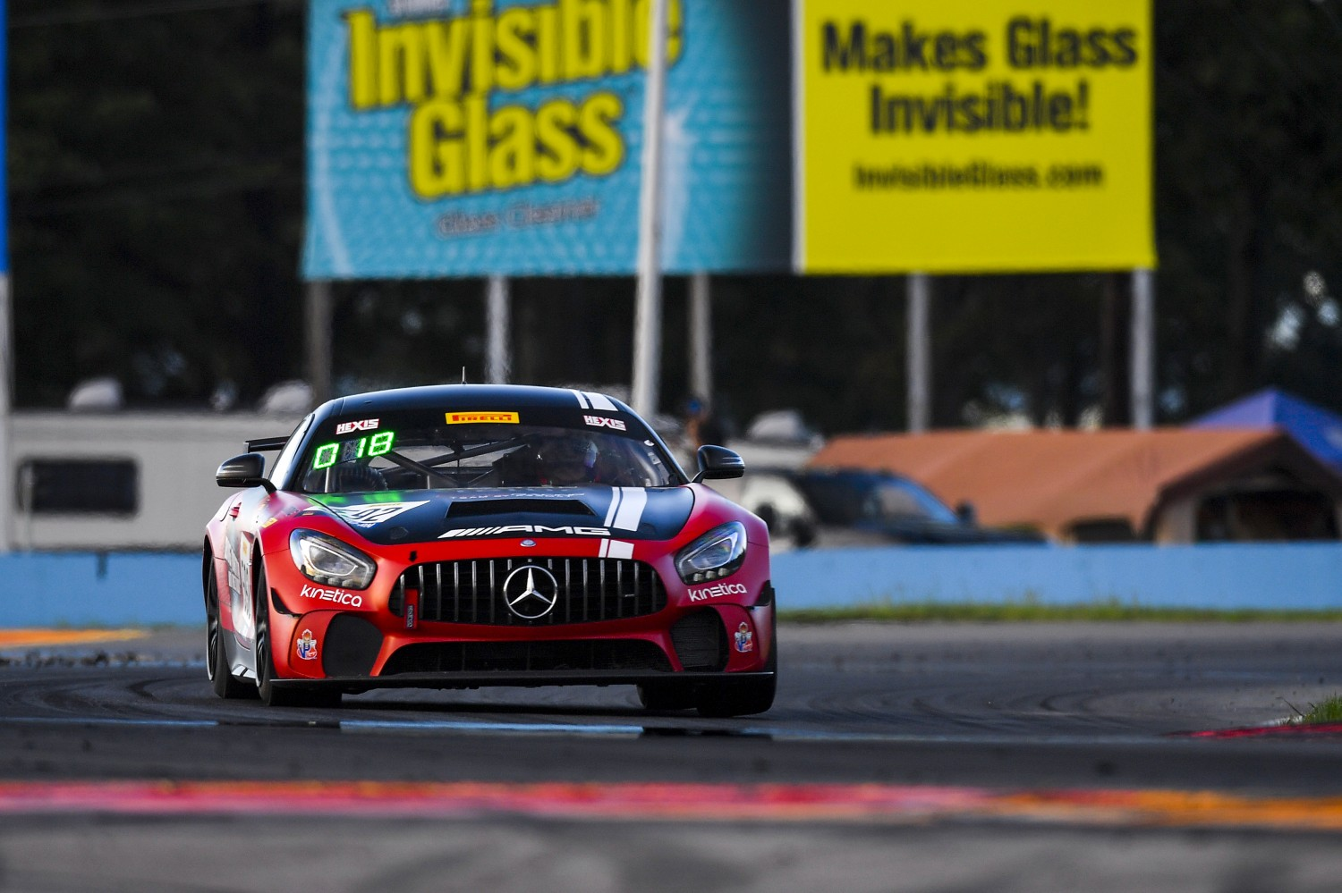 #592 Mercedes-AMG GT4 of Mark Ramsey and Alexandre Premat with Ramsey Racing/EXR-Team by Premat  Watkins Glen World Challenge America , Watkins Glen NY   | Gavin Baker/SRO