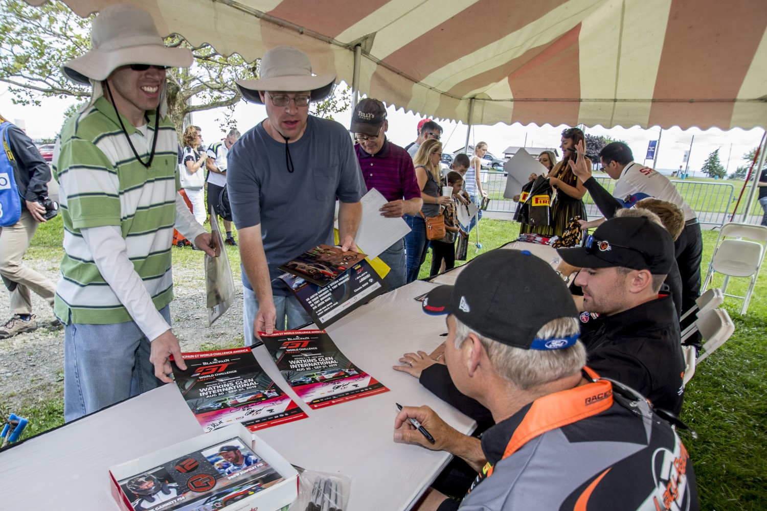 Autograph session, Watkins Glen, August 2019.