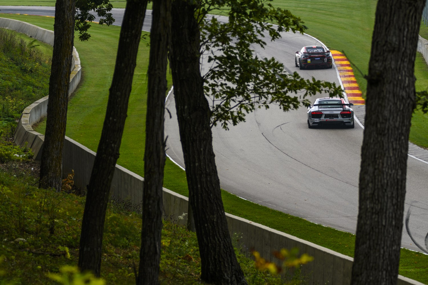 #17 Porsche 718 Cayman CS MR, Sean Gibbons, Derek DeBoer, TRG-The Racers Group  SRO Pirelli GT4 America, Road America, September 2019.  | Bob Chapman/SRO