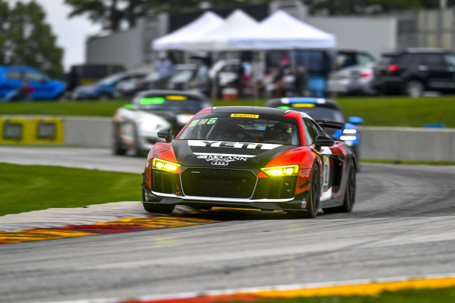 #82 Audi R8 LMS GT4 of Michael McCann Jr  with McCann Racing  Road America World Challenge America , Elkhart Lake WI | Gavin Baker/SRO