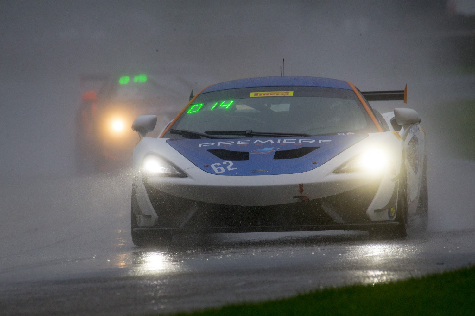 #62 McLaren 570S GT4, Mark Klenin, KFR, SRO Pirelli GT4 America, Road America, September 2019.