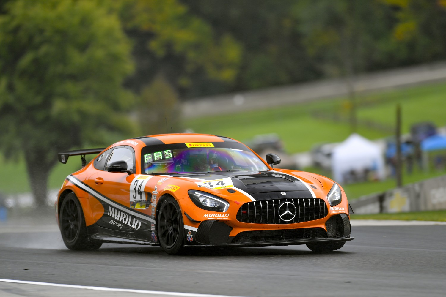 #34 Mercedes-AMG GT4 of Matthew Fassnacht and Christian Szymczak with Murillo Racing  Road America World Challenge America , Elkhart Lake WI | Gavin Baker/SRO