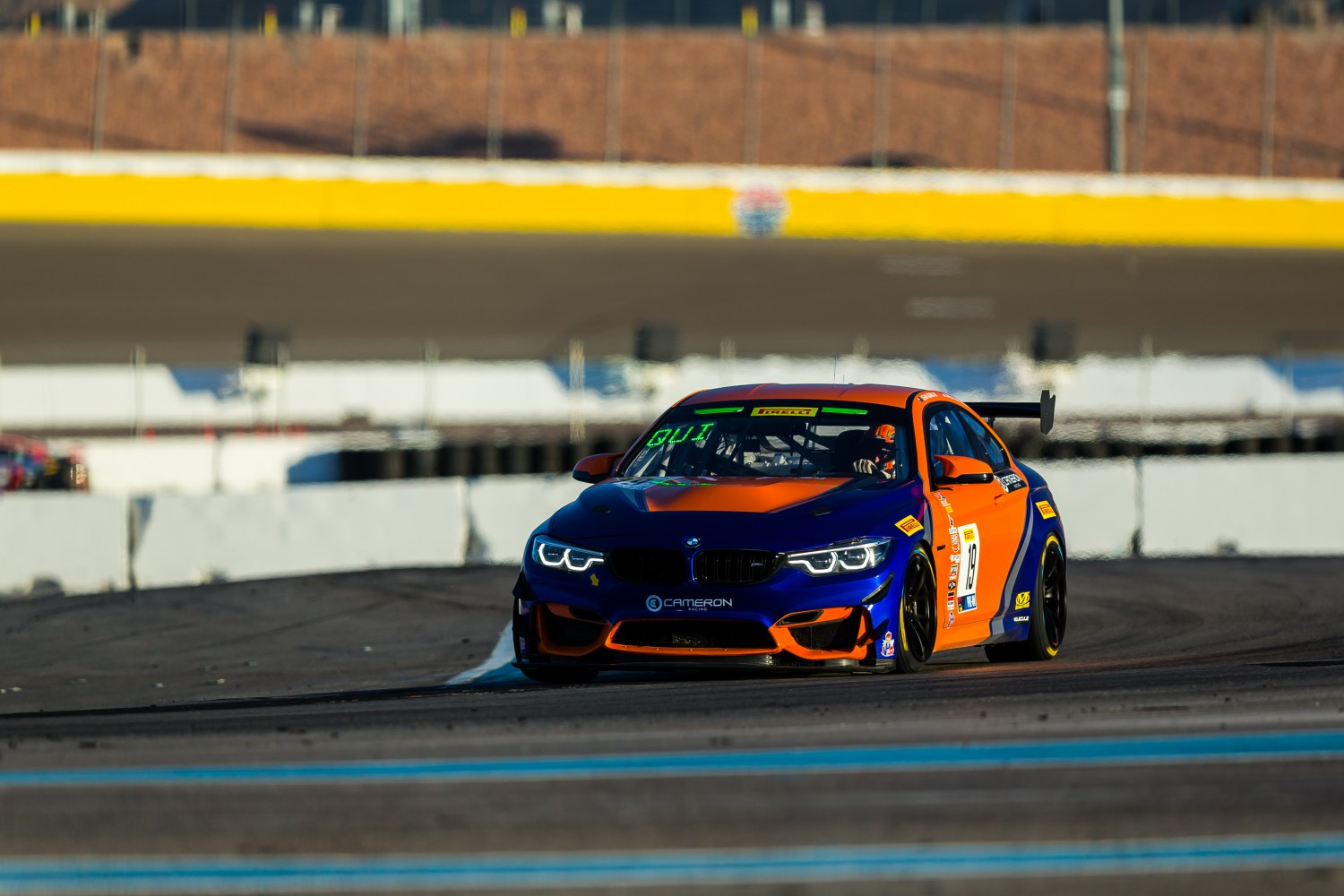 #19 BMW M4 GT4 of Sean Quinlan and Gregory Liefooghe with Stephen Cameron Racing  2019 Blancpain GT World Challenge America - Las Vegas, Las Vegas NV | Fabian Lagunas/SRO