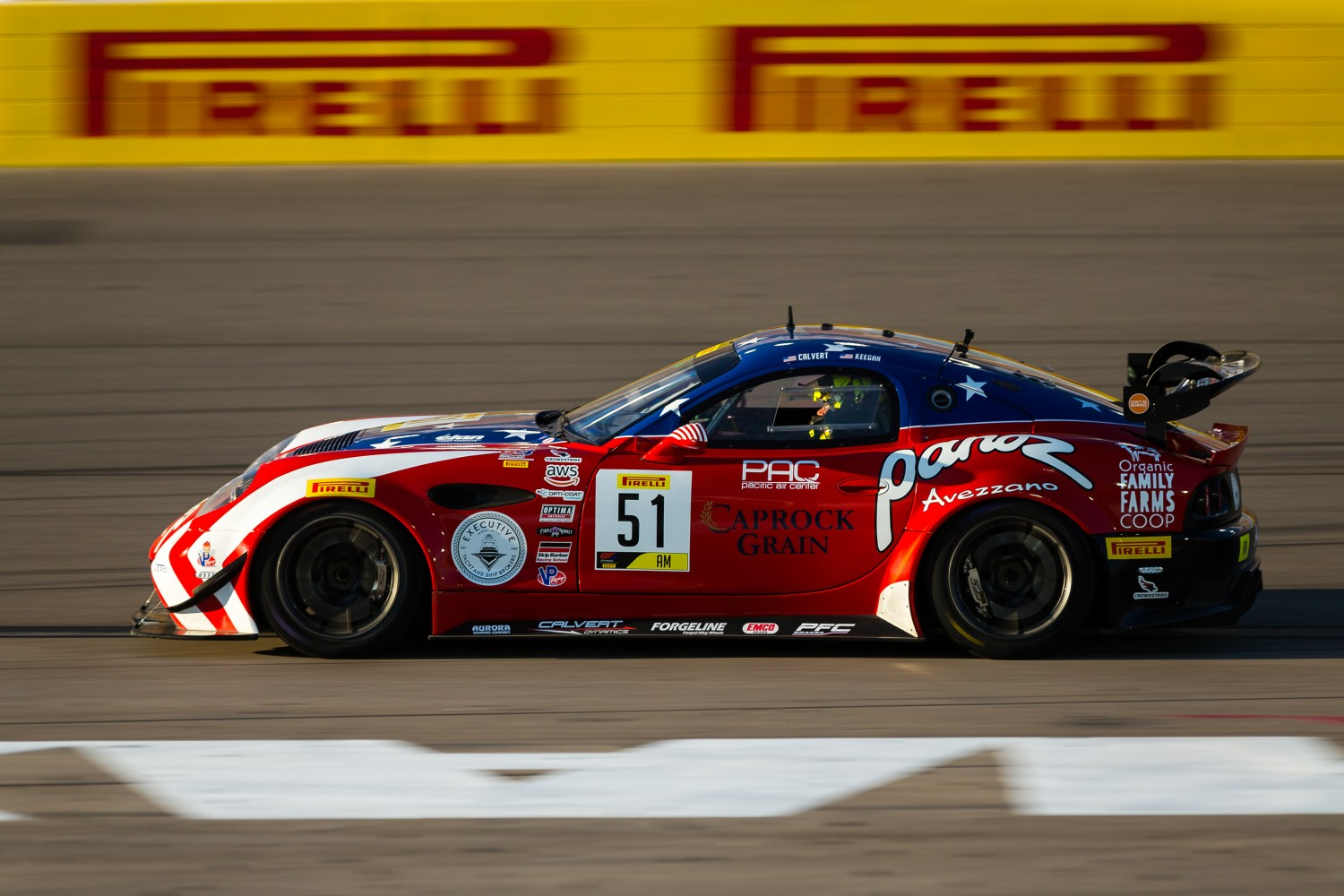 #51 Panoz Avezzano GT of Preston Calvert and Matthew Keegan with Team Panoz Racing  2019 Blancpain GT World Challenge America - Las Vegas, Las Vegas NV | Fabian Lagunas/SRO