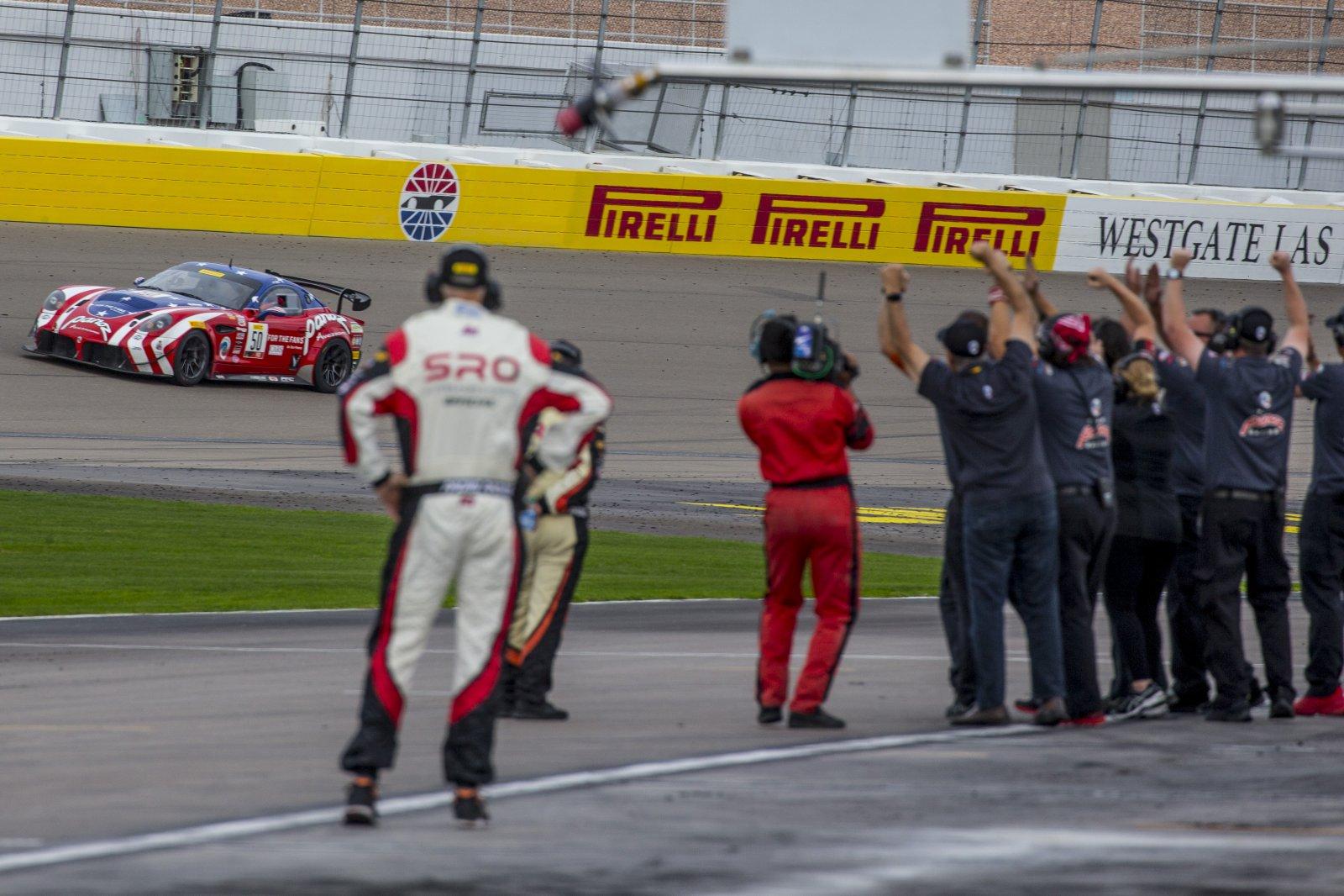 #50 Panoz Avezzano GT4, Ian James, Team Panoz Racing, Pirelli GT4  America, Las Vegas, October 2019 2019.
