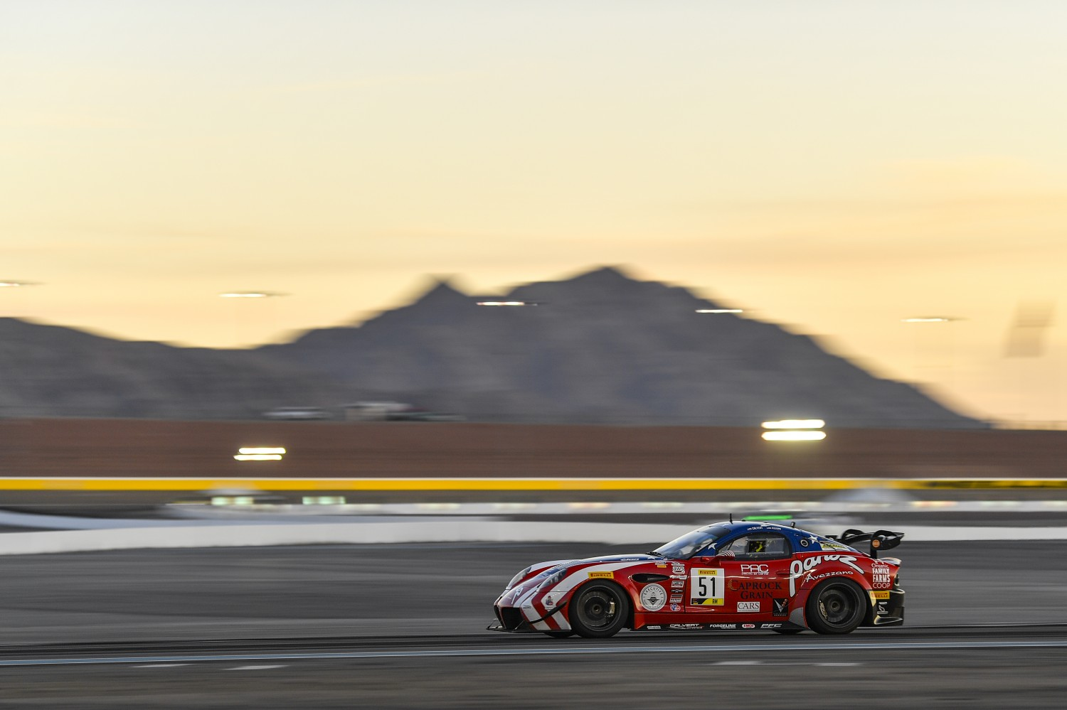 #51 Panoz Avezzano GT of Preston Calvert and Matthew Keegan with Team Panoz Racing  2019 Blancpain GT World Challenge America - Las Vegas, Las Vegas NV | Gavin Baker/SRO