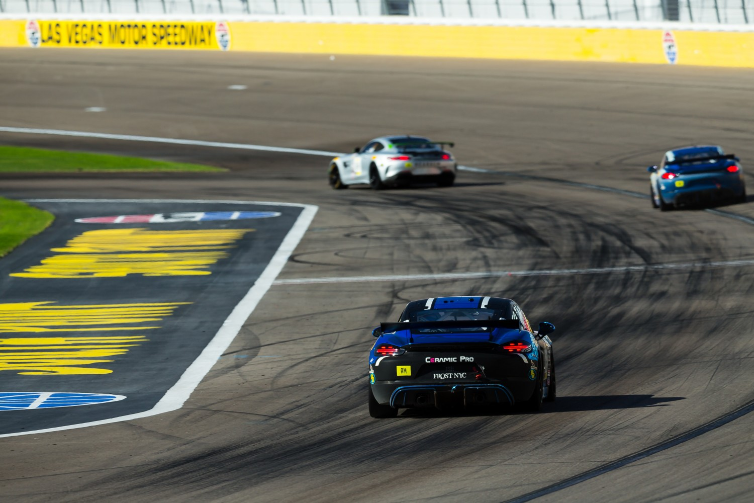 #2 Porsche 718 Cayman CS MR of Jason Bell  with GMG Racing  2019 Blancpain GT World Challenge America - Las Vegas, Las Vegas NV | Fabian Lagunas/SRO