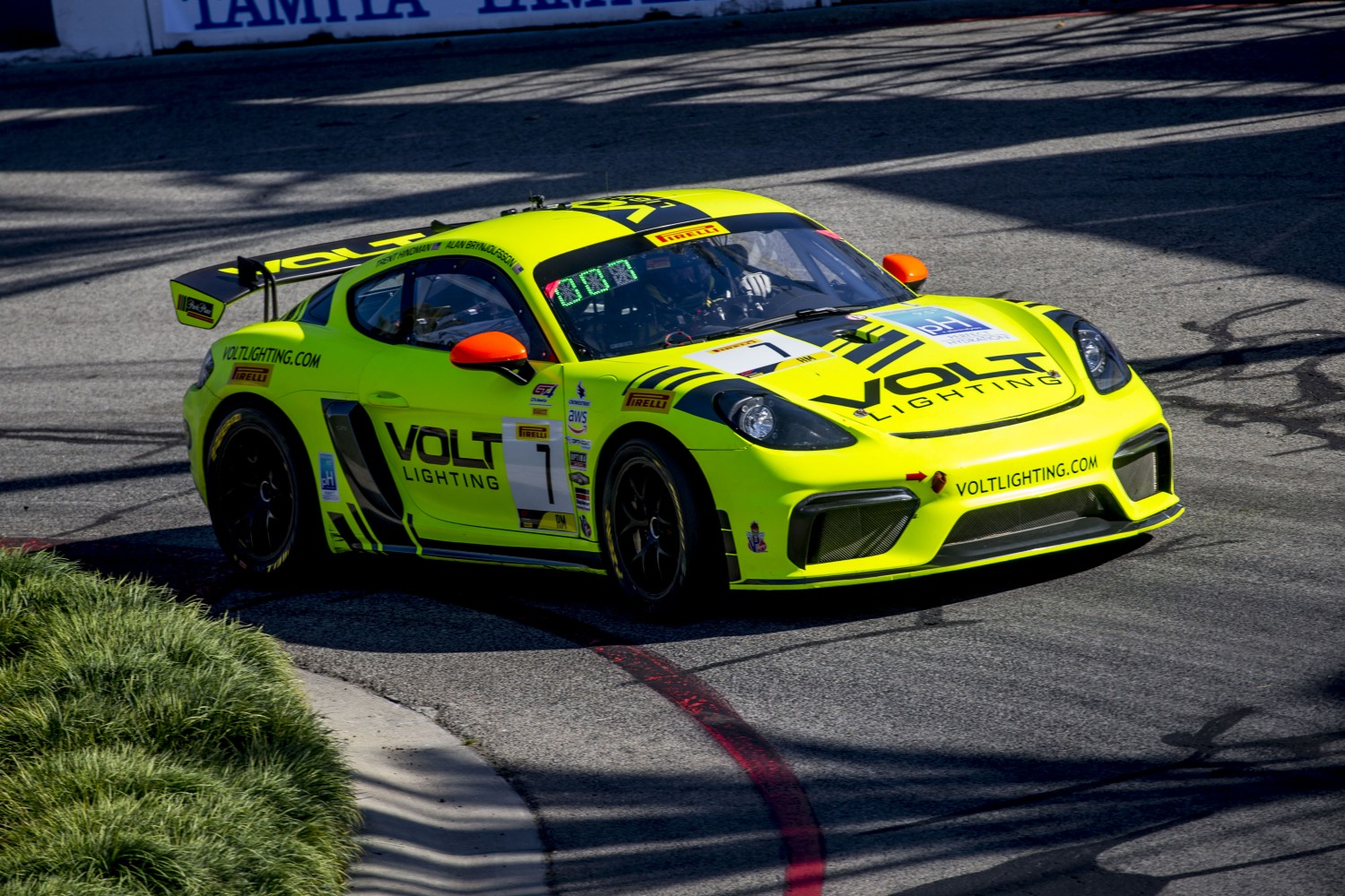 #7 Porsche 718 Cayman GT4 CS MR of Alan Brynjolfsson, Streets of Long Beach, Long Beach, CA.