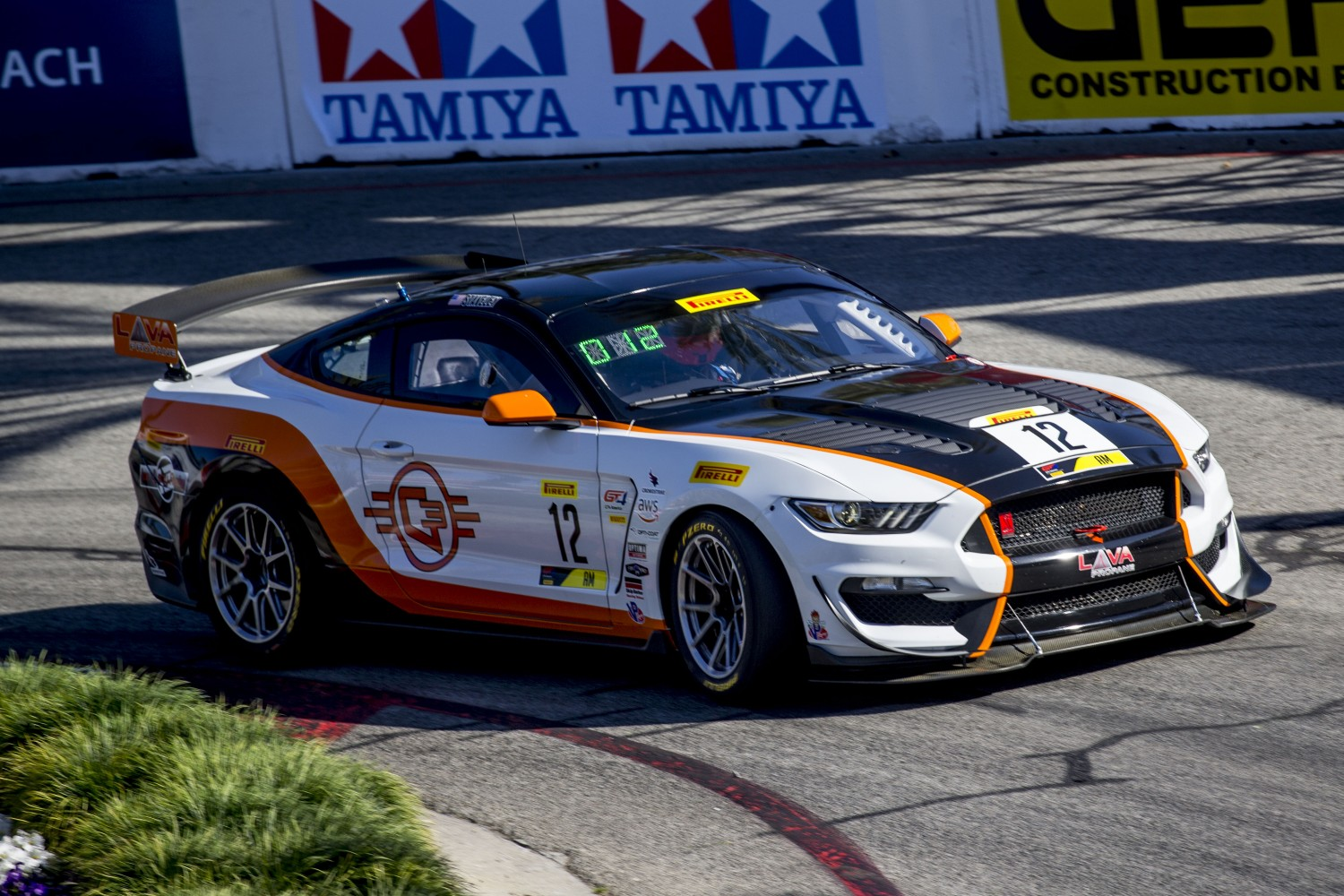 #12 Ford Mustang GT4 of Drew Stavely, Streets of Long Beach, Long Beach, CA.