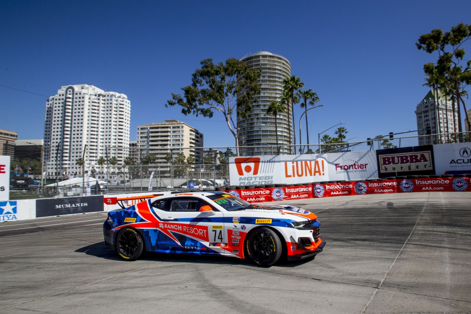#74 Chevrolet Camaro GT4 of Gar Robinson, Streets of Long Beach, Long Beach, CA.  | Brian Cleary/SRO