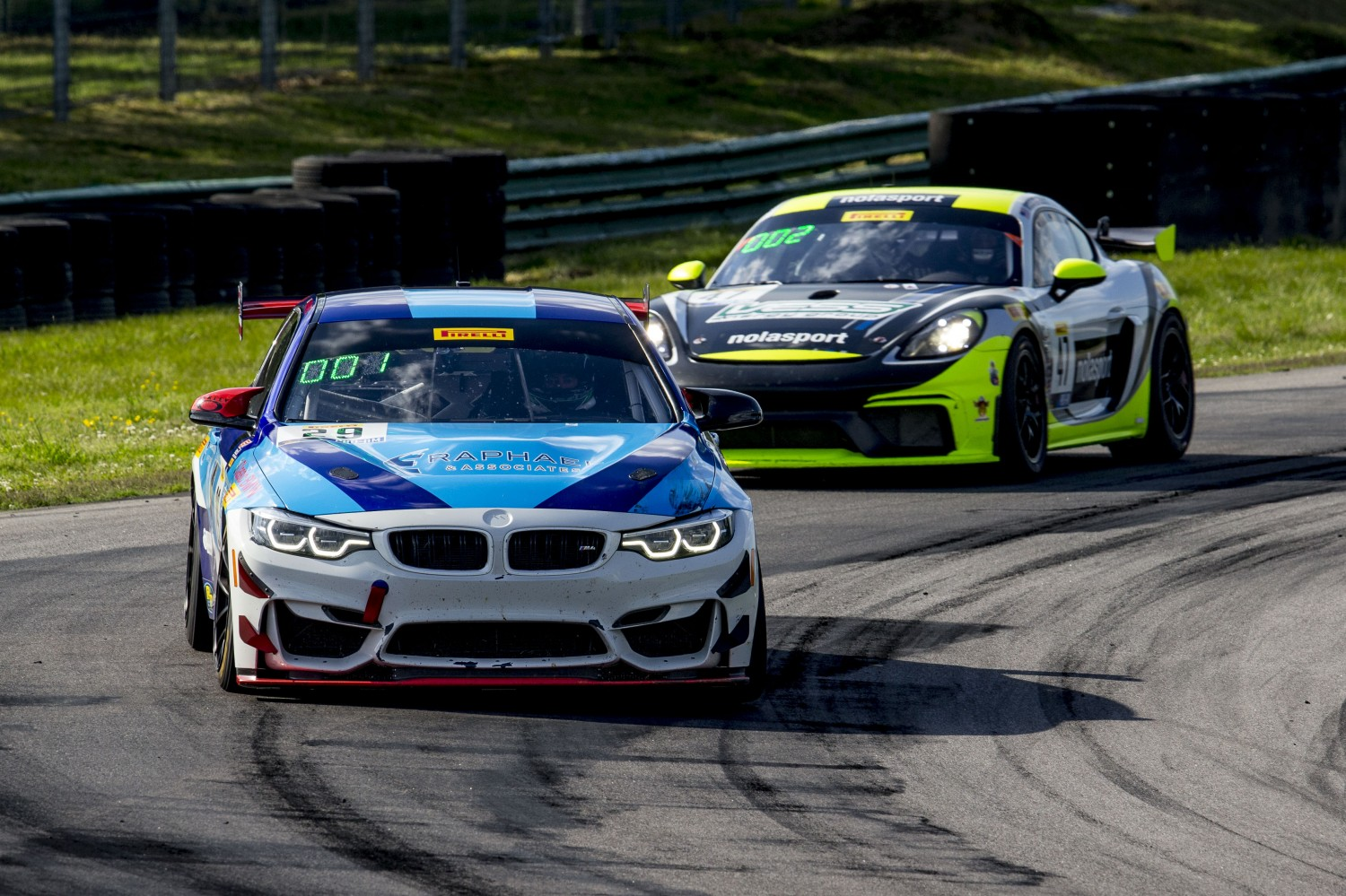 #29, BMW M4 GT4, Justin Raphael and Stevan McAleer, GT4 East, VIRginia International Raceway, Alton VA  | Brian Cleary/SRO
