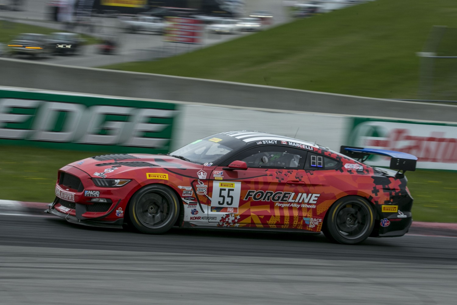#55 Ford Mustang GT4 of Nate Stacy, Castrol Victoria Day SpeedFest Weekend, Clarington ON  | Brian Cleary/SRO