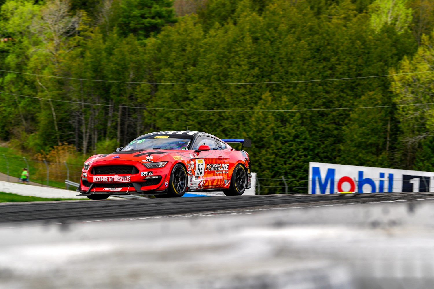 #55 Ford Mustang GT4 of Nate Stacy    Castrol Victoria Day SpeedFest Weekend, Clarington ON | Gavin Baker/SRO