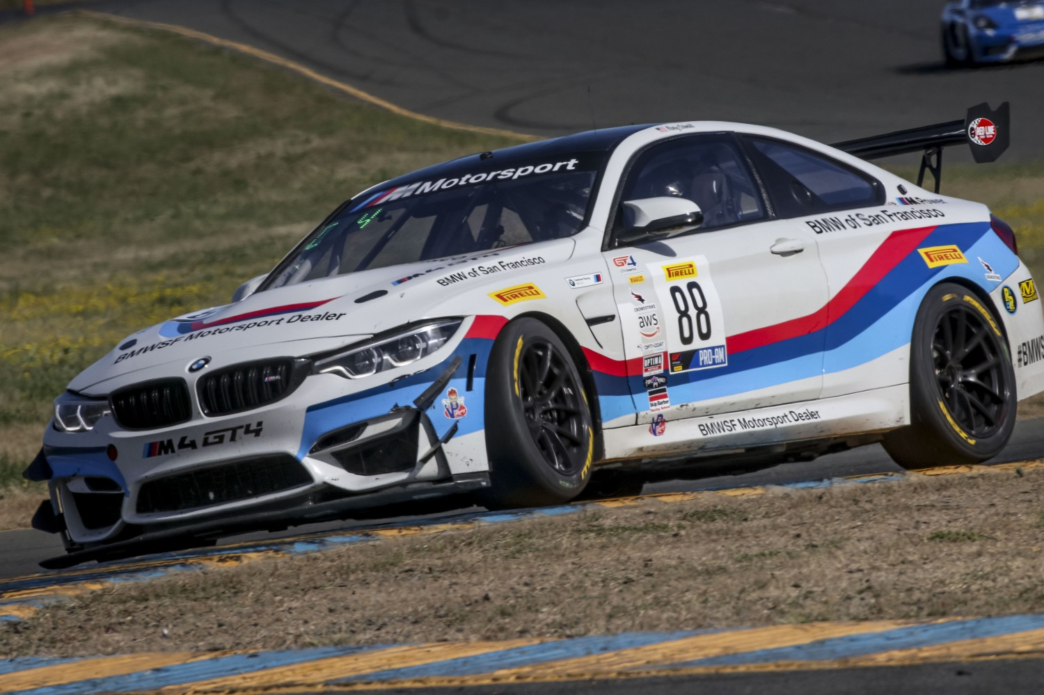 #88, Stephen Cameron Racing, BMW M4 GT4, Henry Schmitt, \g88#7\, SRO at Sonoma Raceway, Sonoma CA  | Brian Cleary/SRO