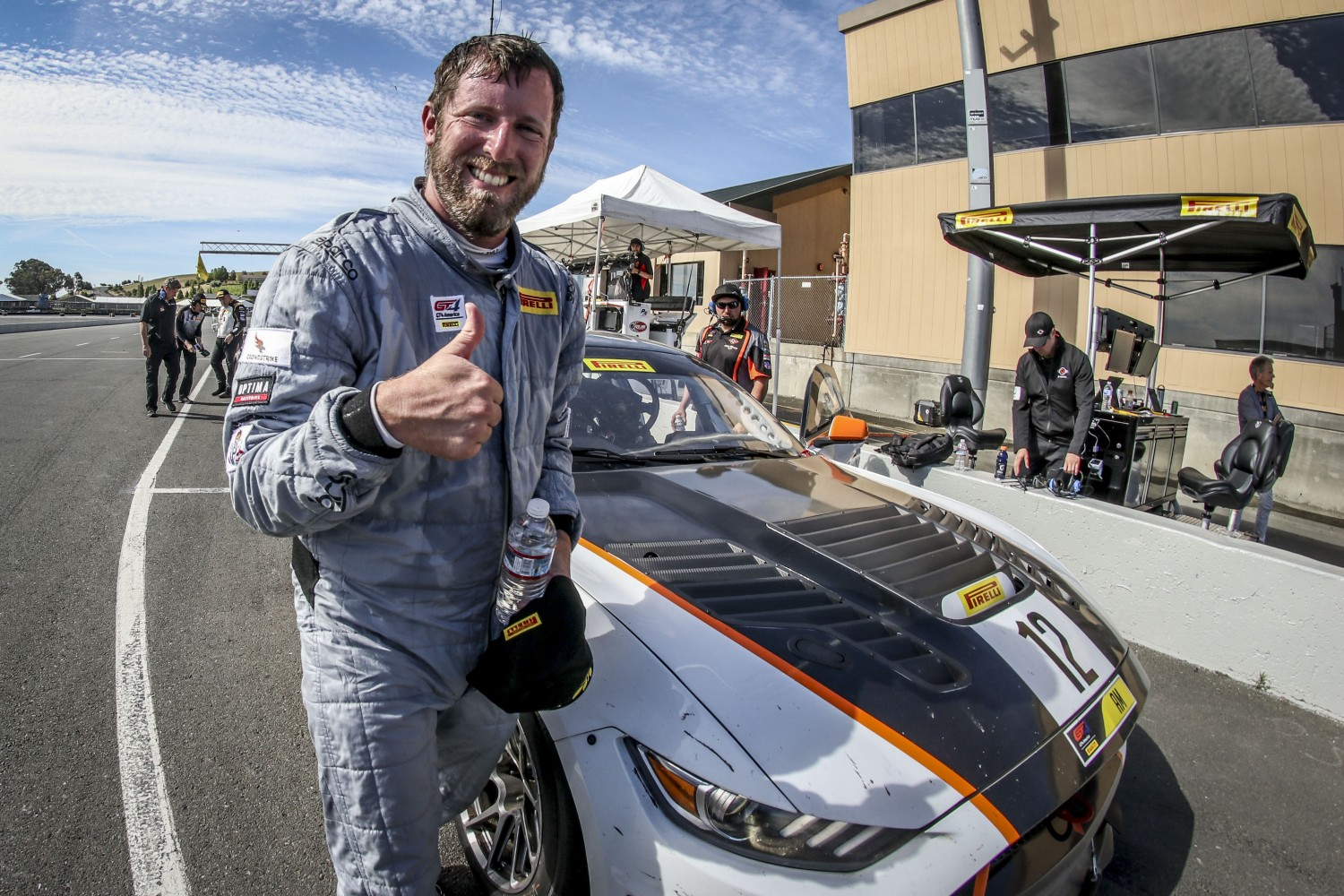 #12, Ian Lacy Racing, Ford Mustang GT4, Drew Staveley, \g12#7\, SRO at Sonoma Raceway, Sonoma CA