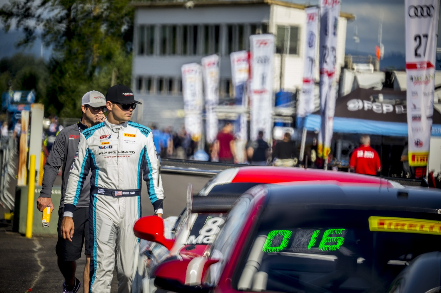 #21 Porsche 718 Cayman CS MR of Michael Dinan and Robby Foley, Rose Cup Races, Portland OR  | Brian Cleary/SRO