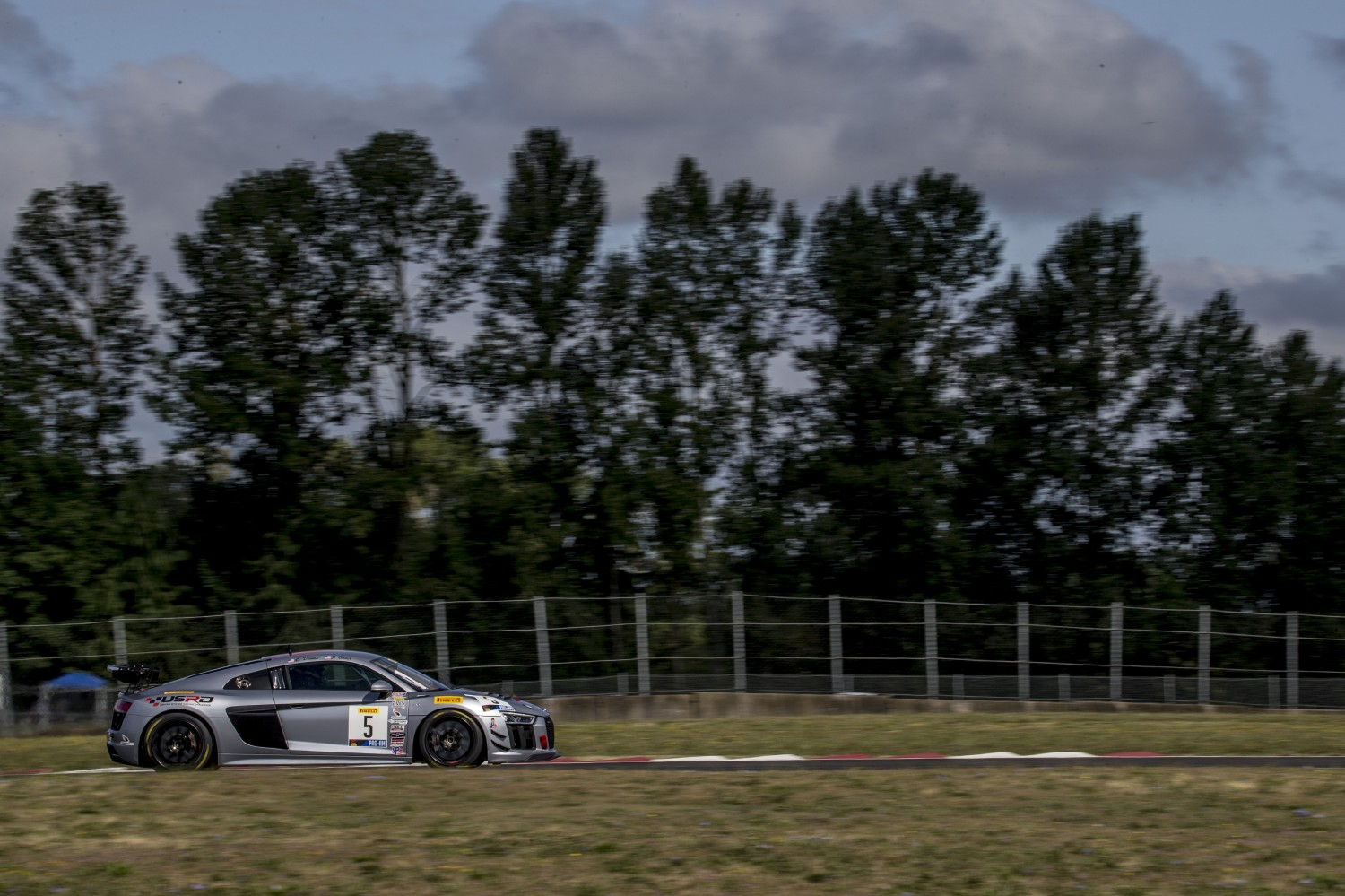 #5 Audi R8 LMS GT4 of Casey Dennis and Jeff Bader, Rose Cup Races, Portland OR  | Brian Cleary/SRO