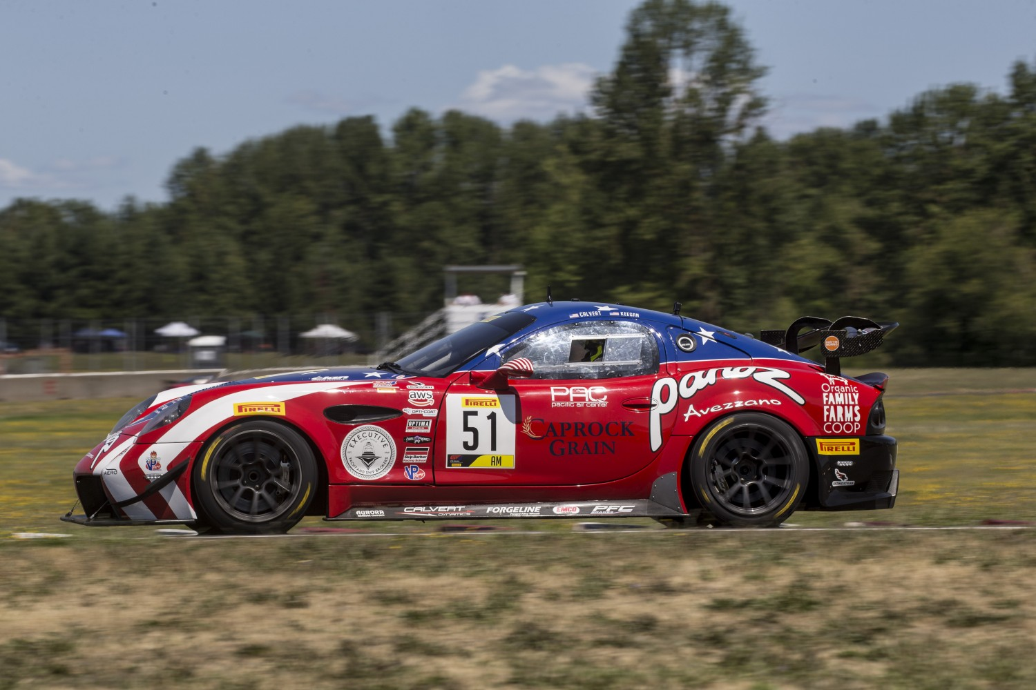 #51 Panoz Avezzano GT of Preston Calvert and Matthew Keegan, Rose Cup Races, Portland OR  | Brian Cleary/SRO