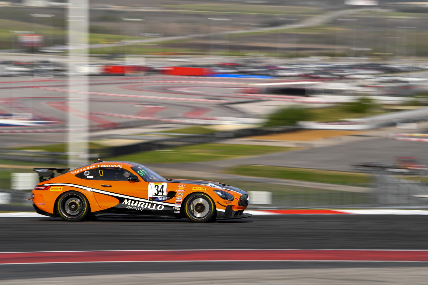 #34 GT4 SprintX, Pro-Am, Murillo Racing, Matt Fassnacht, Christian Szymczak, Mercedes-AMG GT4, 2020 SRO Motorsports Group - Circuit of the Americas, Austin TX  | SRO Motorsports Group