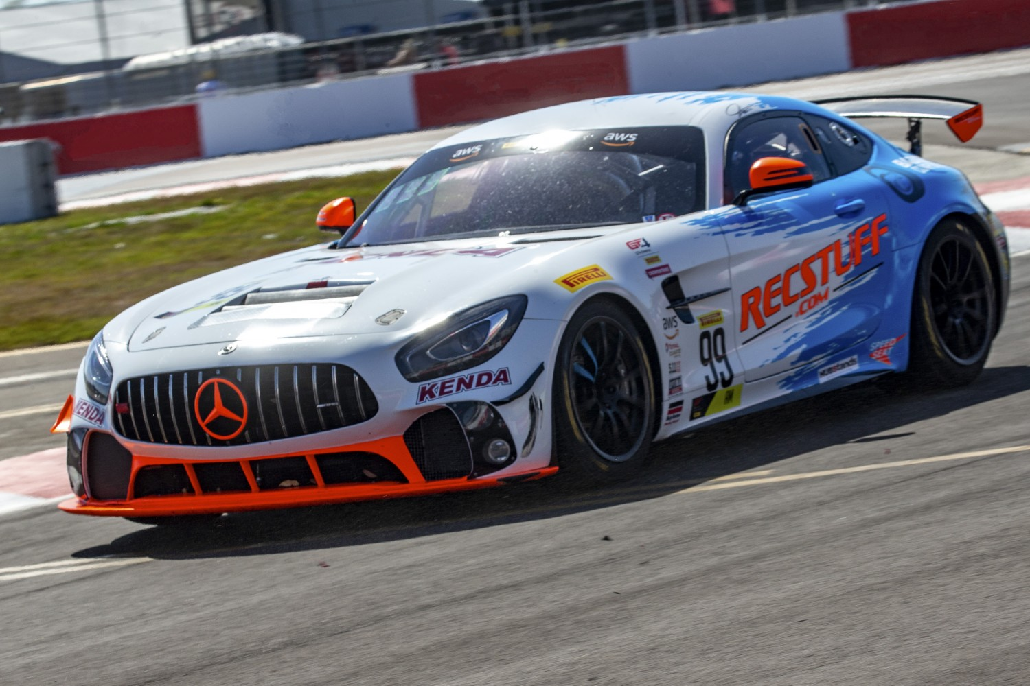 #99 GT4 Sprint, Am, RecStuff Racing, Jeff Courtney, Mercedes-AMG GT4 SRO Motorsports Group America, St. Pete Grand Prix, St. Petersburg, FL, March 2020