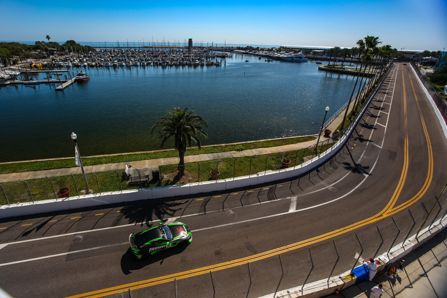 #89 GT4 Sprint, Am, RecStuff Racing, Fred Roberts, Aston Martin, Vantage GT4 SRO Motorsports Group America, St. Pete Grand Prix, St. Petersburg, FL, March 2020  | AL Arena/SRO