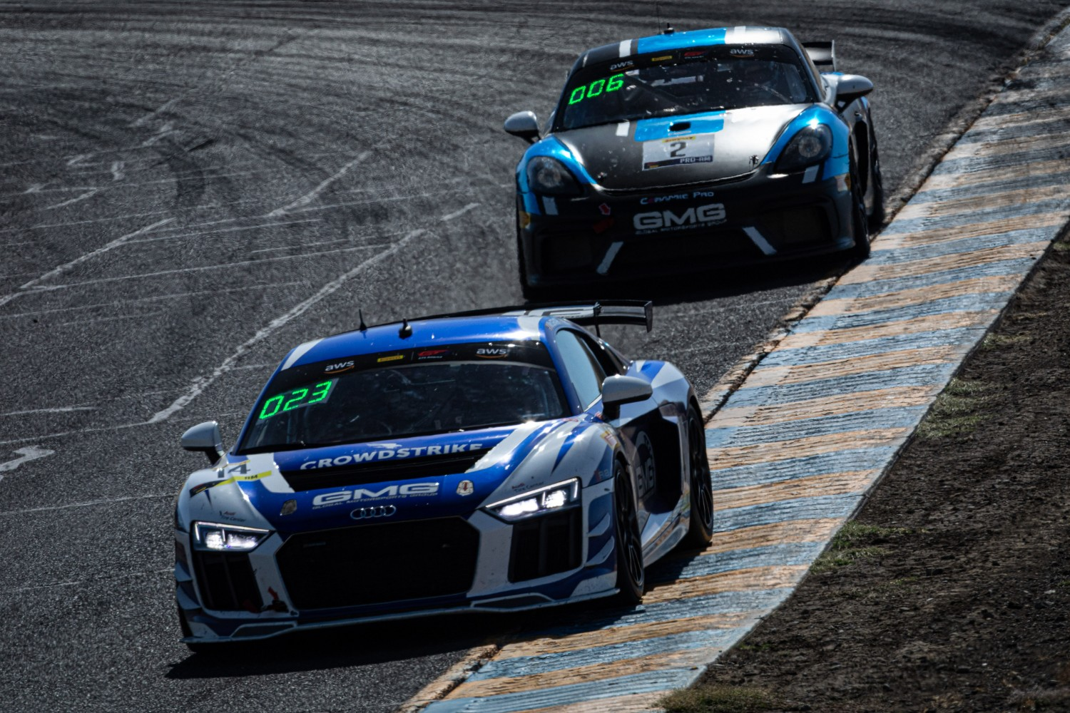#14 Audi R8 LMS GT4 of Alex Welch and Michael McGrath, GMG Racing, GT4 SprintX, 2020 SRO Motorsports Group - Sonoma Raceway, Sonoma CA  | Brian Cleary