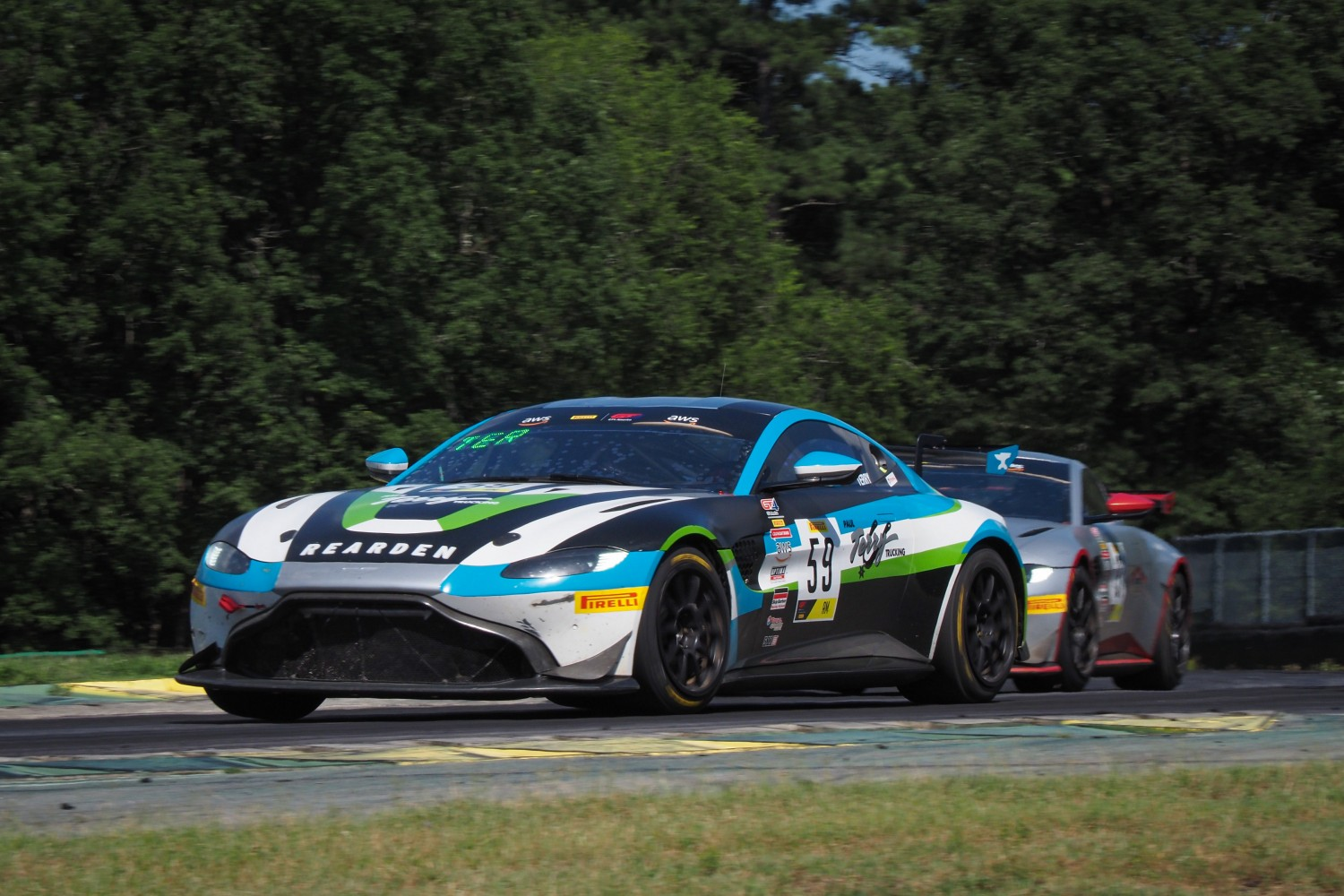 #59 GT4 Sprint, Am, Rearden Racing, Paul Terry, Aston Martin Vantage GT4\, SRO VIR 2020, Alton VA  | SRO Motorsports Group