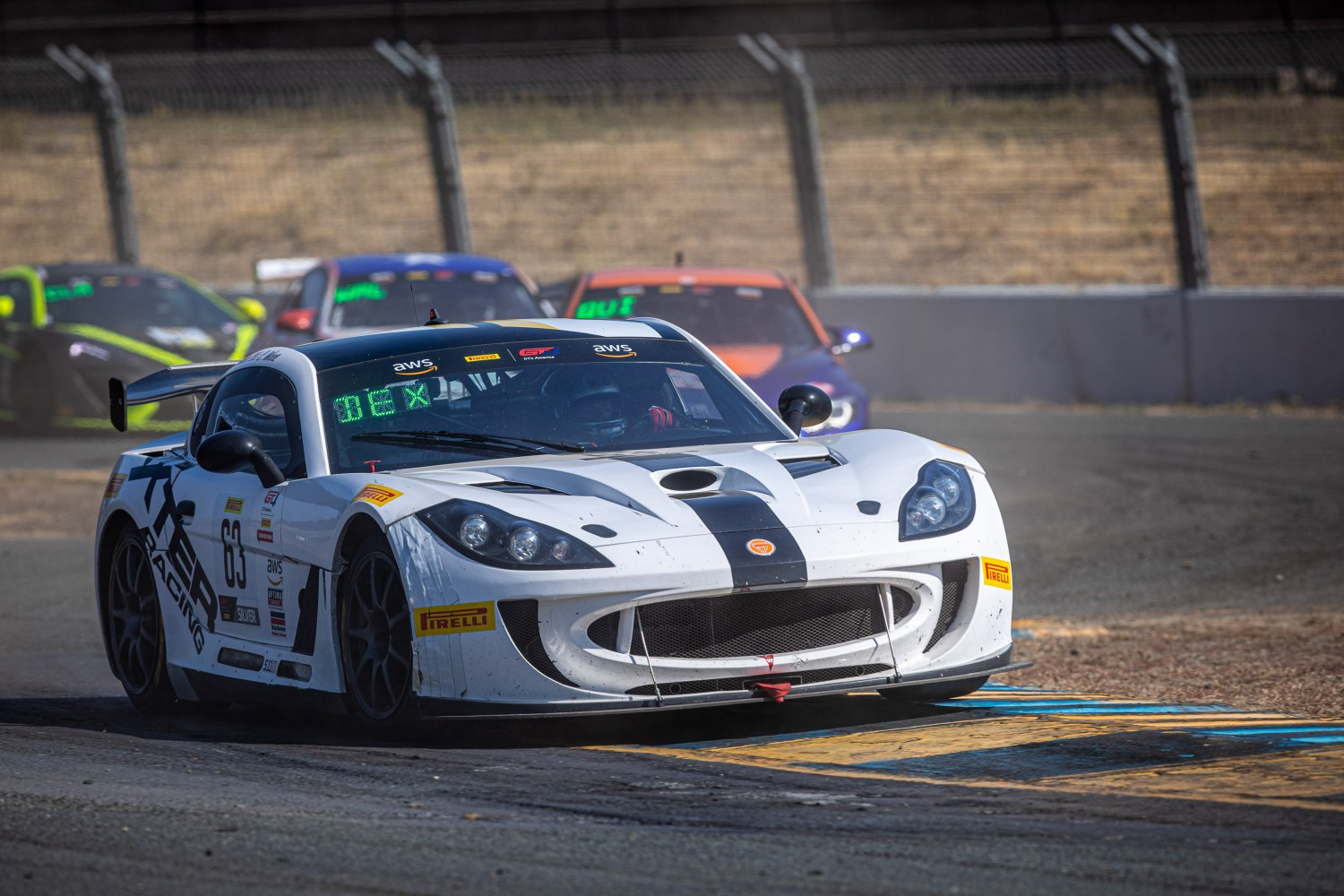 #63 Ginetta G55 of Cody Ware and Ryan Dexter, Dexter Racing, GT4 SprintX, 2020 SRO Motorsports Group - Sonoma Raceway, Sonoma CA  | Brian Cleary
