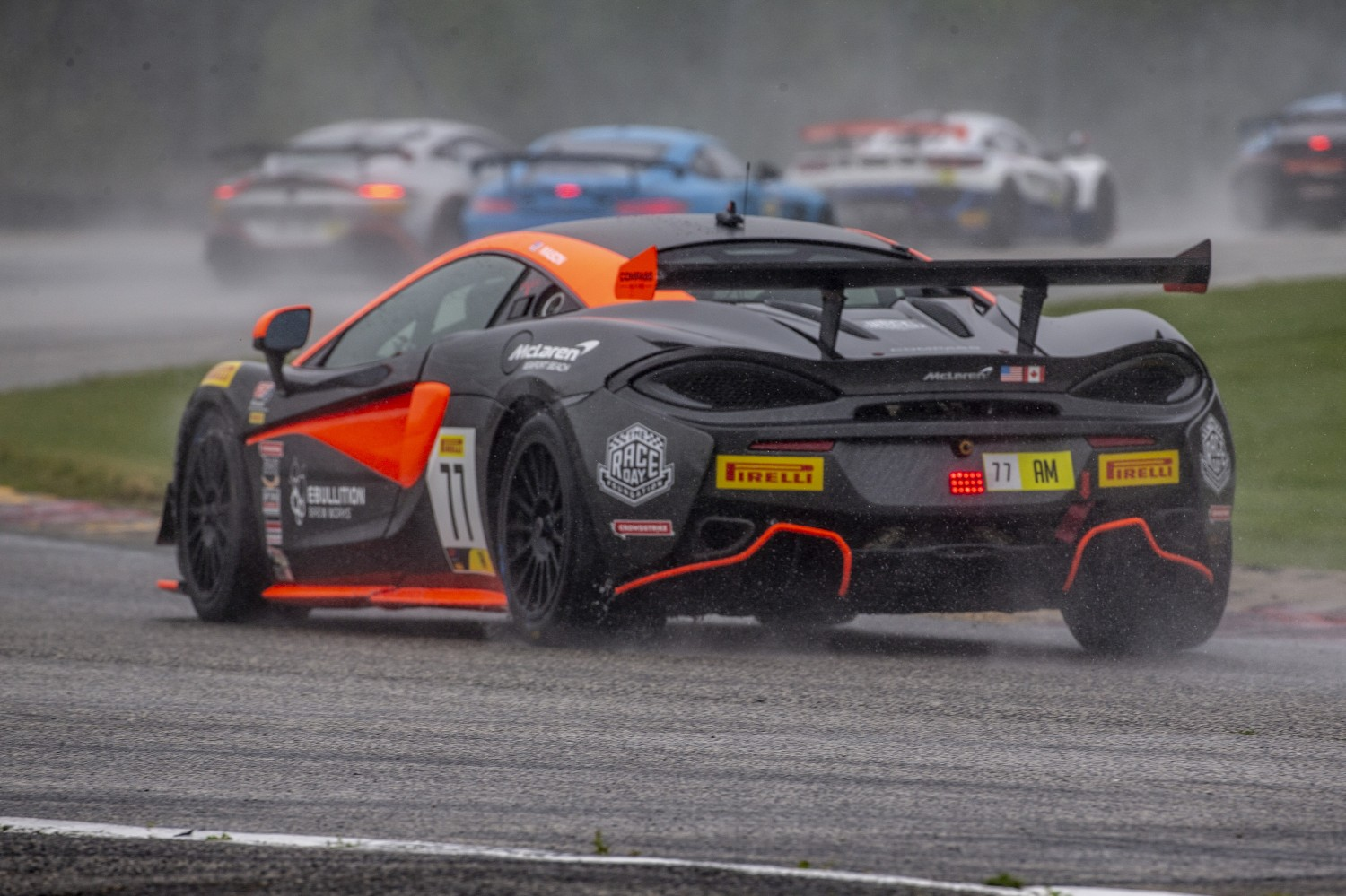 #77 McLaren 570s GT4 of Anthony Geraci and Richard Golinello, Compass Racing, GT4 SprintX, Am, SRO America, Road America, Elkhart Lake, WI, July 2020.  | SRO Motorsports Group