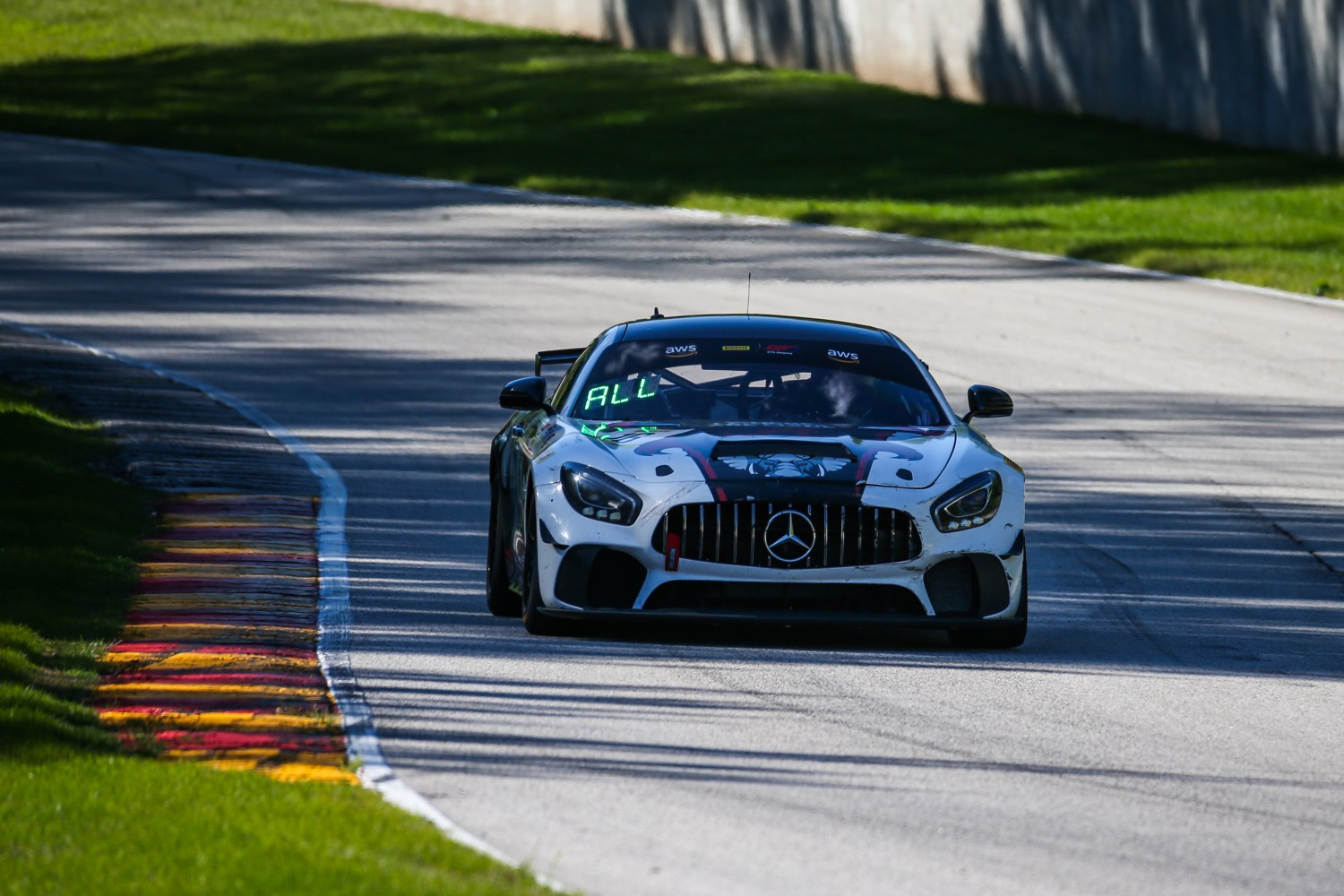 #16 Mercedes-AMG GT4 of John Allen and Kris Wilson, Rearden Racing, GT4 SprintX Am, SRO America, Road America, Elkhart Lake, WI, August 2020.  | Sarah Weeks/SRO