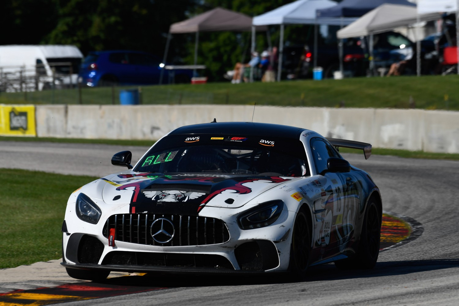 #16 Mercedes-AMG GT4 of John Allen and Kris Wilson, Rearden Racing, GT4 SprintX Am, SRO America, Road America, Elkhart Lake, WI, August 2020.  | SRO Motorsports Group