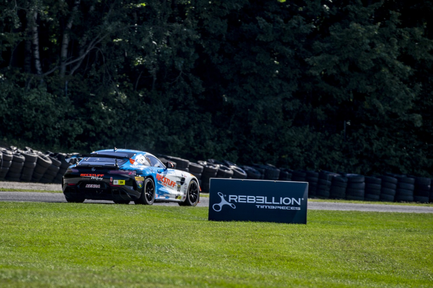 #99 Mercedes-AMG GT4 of Jeff Courtney, RecStuff Racing, GT4 Sprint Am, SRO America, Road America, Elkhart Lake, WI, July 2020.  | Brian Cleary/SRO