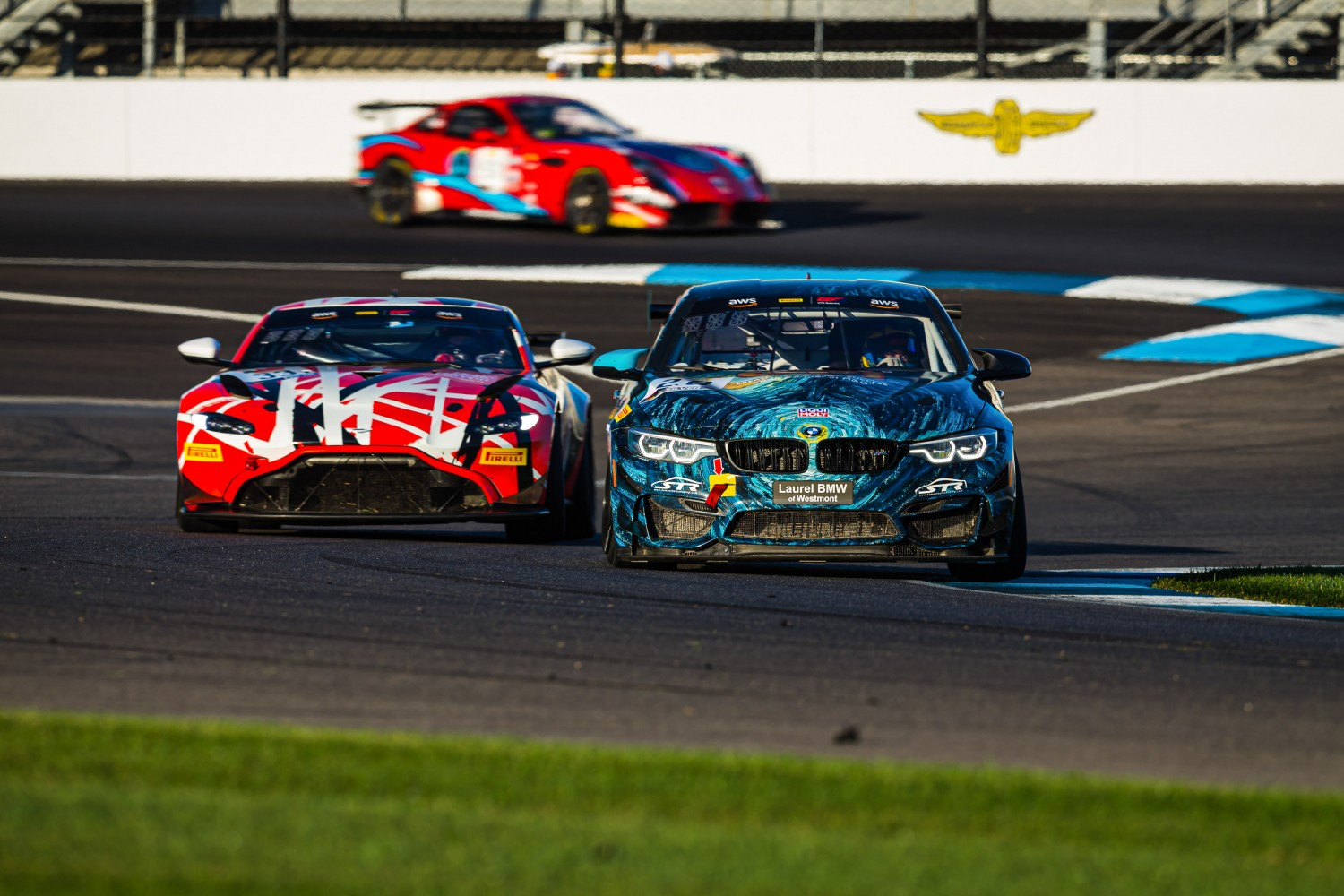 #28 BMW M4 GT4 of Nick Wittmer and Harry Gottsacker, ST Racing, GT4 SprintX, IN, Indianapolis, Indianapolis Motor Speedway, SRO, September 2020.  | Fabian Lagunas/SRO