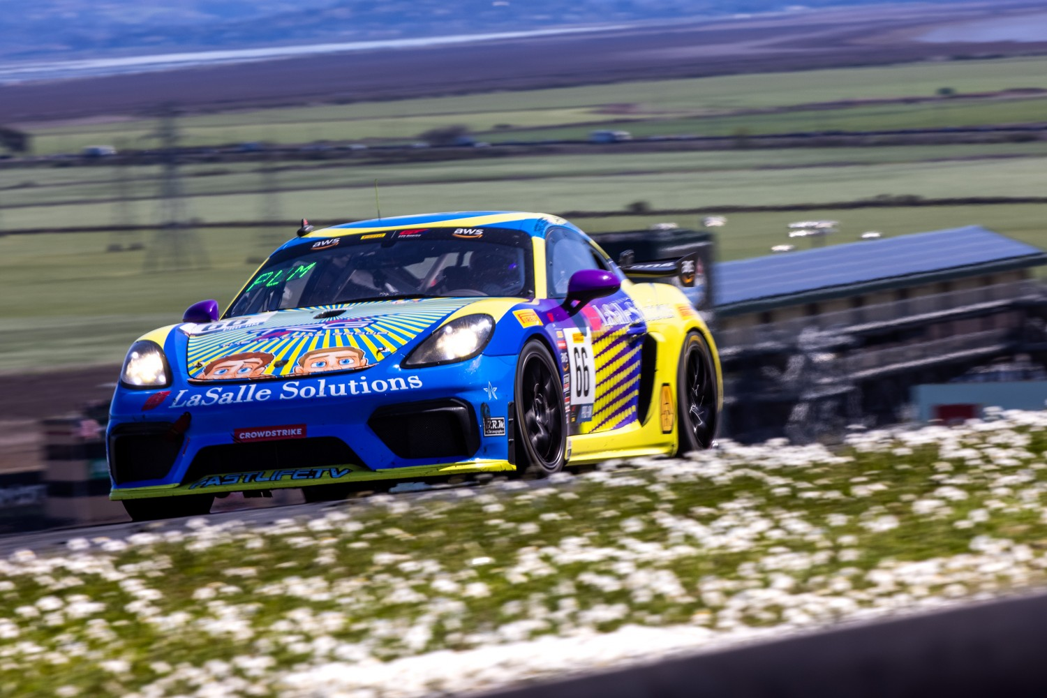 #66 Porsche 718 Cayman GT4 CLUBSPORT MR of Derek DeBoer and Spencer Pumpelly, TRG-The Racers Group, Pro-Am, Pirelli GT4 America,