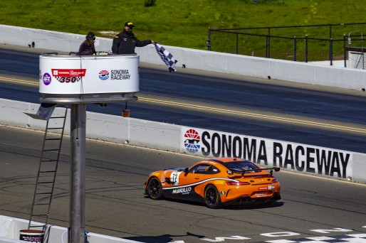 #72 Mercedes-AMG GT4 of Kenny Murillo and Christian Szymczak, Murillo Racing, SL, Pirelli GT4 America, SRO America Sonoma Raceway, Sonoma, CA, March 2021.