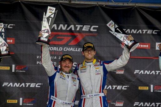 #15 Aston Martin Vantage AMR GT4 of Bryan Putt and Kenton Koch, BSPort Racing, ProAm, Pirelli GT4 America, SRO America, Virginia International Raceway, Alton, VA, June 2021.