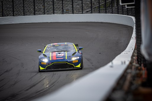 #59 Aston Martin Vantage AMR GT4 of Paul Terry and Valentin Hasse-Clot, WR Racing, Pro-Am, Pirelli GT4 America, SRO, Indianapolis Motor Speedway, Indianapolis, IN, USA, October 2021