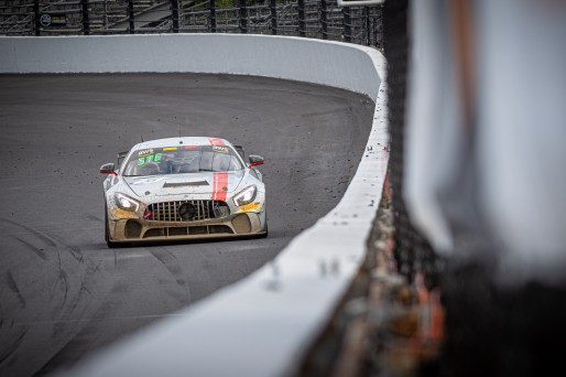 #35 Mercedes-AMG GT4 of Michai Stephens and Marco Kacic, Conquest Racing West, ProAm, Pirelli GT4 America, SRO, Indianapolis Motor Speedway, Indianapolis, IN, USA, October 2021